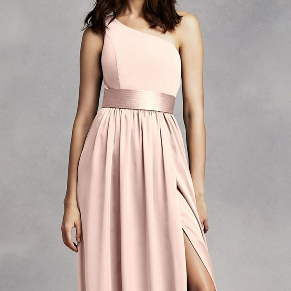 4db2c243cb David s Bridal One Shoulder Dress w Satin Sash. M 5a807edf9d20f0f6da8bd38d